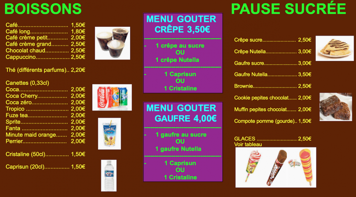 Page 1 menu copie